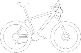 Silhouet Mountainbike Silhouetten En Contour