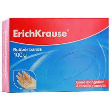 <b>Резинки банковские</b> ErichKrause, цветные, длина 80 мм, 100 г ...