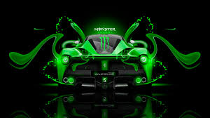 monster energy laferrari fantasy plastic car