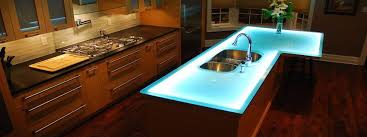 Light up kitchen countertops custom fit to your specifications
