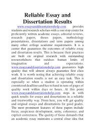 reliable essay and dissertation results reliable essay and dissertation results essaysanddissertationshelp com provides studentsand research scholars a