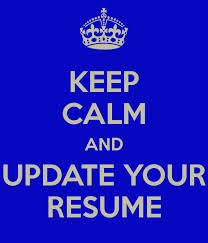 Update Your Resumes September Is A Great Time To Update Your Resume Skye Is The Limit