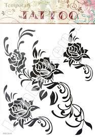 наклейки татуировки большие розы