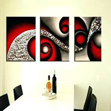 3 panel canvas wall art black and red abstract oil prints uk piece home decor on red canvas wall art uk with 3 panel canvas wall art black and red abstract oil prints uk piece