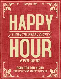 Happy Hour Flyer Red Bar Flyer Template Happy Hour Thursday Click On The