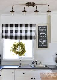 pretty grey and white kitchen curtains decor
