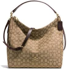 Coach F58327 Celeste Hobo Crossbody Khaki Brown