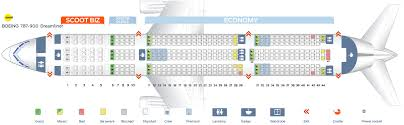 Boeing Dreamliner Seating Chart Seat Map Boeing 787 9 Scoot Airlines Best Seats In The Plane
