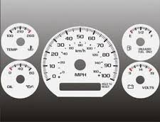 gmc sonoma glow gauges 1998 2005 chevrolet s10 blazer non tach manual cluster white face gauges fits gmc sonoma