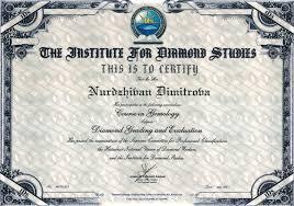 expert evaluating diamonds nuri dimitrova Диплом за оценител на диаманти