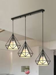 retro style diamond design ceiling lamp home bar decor share