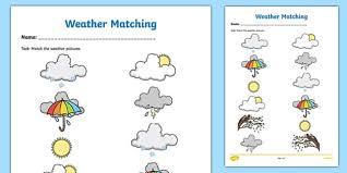 Free coloring sheets to print and download. Weather Symbols Matching Worksheet Worksheet Irish Worksheet