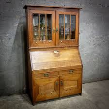 Secretaire Bureau Arts And Crafts Circa 1890 Assortiment