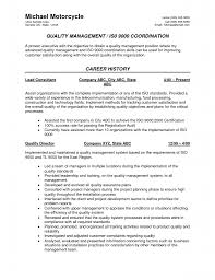 Quality Analyst Cv Quality Control Objectives Samples