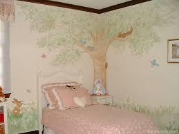 tree wall mural in little girls bedroom