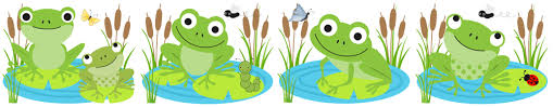 Image result for frogs clip art banner