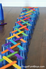 Game With Wooden Sticks 100 Engineering Challenges for Kids Cups Craft Sticks and Cubes 67
