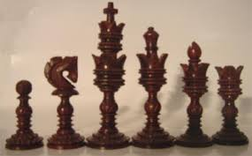 Wooden Game Pieces Bulk Lotus Carved Chess PiecesIndian Rosewood Chess PiecesSheesham 91