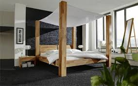 very modern four poster bed