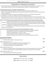 Research Resume Custom Research Scientist Resume Sample Template