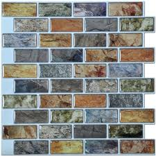 self adhesive wall tiles image of self adhesive mosaic tile color subway tile set of 6 self adhesive wall tiles
