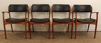 room chairs mid century model 49 dining light brown leather dining chairs luxury set of four erik buch for o d mobler teak dining