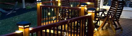 lighting for decks. post cap lighting for decks