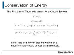 first law ysis of closed systems