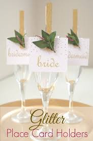 Glitter Clothespin Place Card Holders