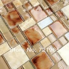 get ations crystal glass mosaic wall tile stone mosaic kitchen backsplash tiles sgmt160 yellow glass tiles stone mosaic