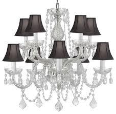 swarovski crystal chandelier with black shade