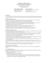 Free Wedding Planner Contract Templates 017 Marketing Plan Event Planning Businessle Cover Letter