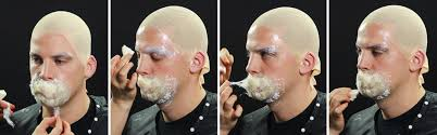 use small bits of cotton and latex around the edge of the patch to help blend it with the skin make sure the edges of your bald cap mouth patch and