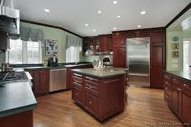 Small Picture Traditional Dark Wood Cherry Kitchen Cabinets 35 Kitchen Design