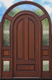 round top door with surround and clear glass 3003 with rain glass