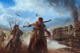2560x1700 Native American Train Chasing ...