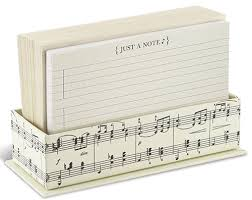 Details About Vintage Musical Note Box Of 50 Flat Note Cards With Envelopes