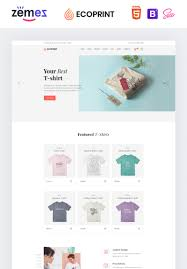 Html Print Preview Design Ecoprint Print Store Multipage Clean Html Website Template
