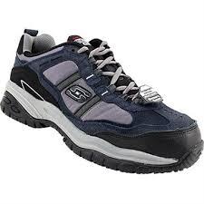 skechers work boots. skechers work soft stride - grinnel shoes mens navy grey boots n