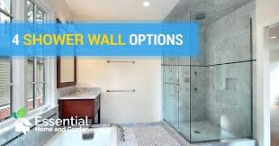 prefab shower walls shower wall options prefab shower wall niche