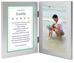 gift for new dad daddy gift from daughter baby double frame with poem add photo father s day gift