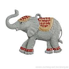 Elefant Aus Zinn Von Hand Beidseitig Bemalt Hxpixnyw