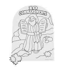 10 Commandments Coloring Pages Save Mandments For Kids Fresh Free