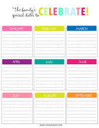Create Calendar Chart Printable Charts For Special Dates To Celebrate