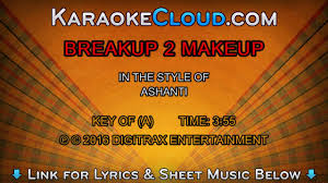 ashanti breakup 2 makeup backing track