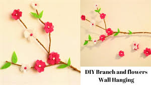 Paper Flower Mobiles Diy Wall Hanging Realistic Diy Tree Branch Decor Tissue Paper Flowers Diy Mobile
