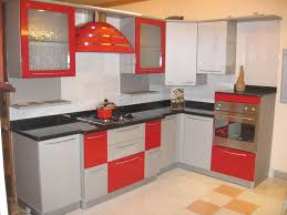 Modular Kitchen Furniture Agreeable Modular Kitchen Design Ideas With L Shape And White Red