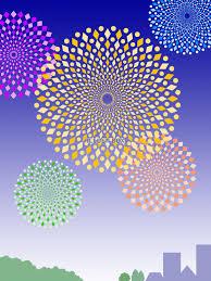 無料イラスト 花火の壁紙画像カラフル背景素材イラスト