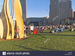 Cleveland Orchestra City Lights Cleveland Orchestra Free Community Concert Stock Photos