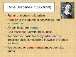 rene descartes father of modern rationalism ppt video  1 rene descartes